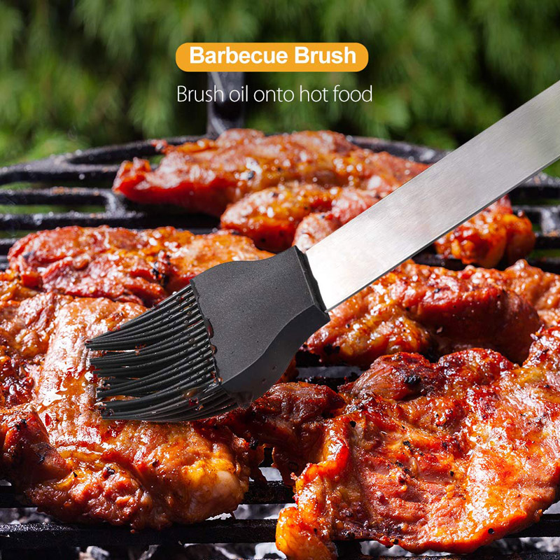 18Pcs Stainless Steel BBQ Tools Kit Set Barbecue Grilling Utensil Accessories